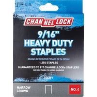 346691 Channellock No. 4 Heavy-Duty Narrow Crown Staple channellock no.