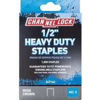 347164 Channellock No. 5 Heavy-Duty Wide Crown Staple channellock no.