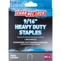 347618 Channellock No. 6 Heavy-Duty Wide Crown Staple channellock no.