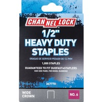 347770 Channellock No. 6 Heavy-Duty Wide Crown Staple channellock no.