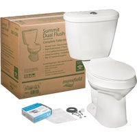 43800017 Mansfield Summit Water Saving Dual Flush Toilet Kit 43800017, Summit White Water Saving Dual Flush Toilet Kit