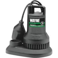 WST33 Wayne 1/3 HP Plastic Submersible Sump Pump RSP130, 1/3 HP Submersible Sump Pump