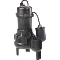 RPP50 Wayne Cast Iron Sewage Ejector Pump w/Tether Switch RPP50, 1/2 HP Cast-Iron With Tether Switch Sewage Pump
