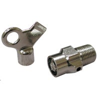 R20-001 Jones Stephens Hot Water Air Valve & Key R20-001, Hot Water Air Valve and Key