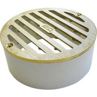 909B NDS 3 In. Round Grate With PVC Collar grate round