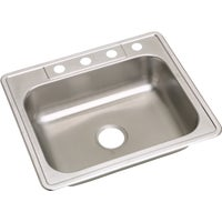 NE25224 Elkay Single Bowl Sink 6 In. Deep Stainless Steel kitchen sink