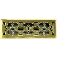 AMFRPBV412 Accord Victorian Plated Brass Floor Register floor register