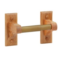 B50501 Home Impressions Oak Toilet Paper Holder B50501, Home Impressions Oak Toilet Paper Holder