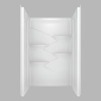 B67311-4834-WH Delta Laurel Shower Wall Set