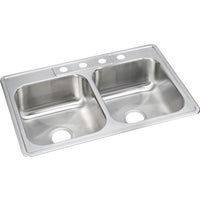 NLB33224 Elkay Double Bowl Kitchen Sink kitchen sink