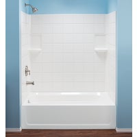 670WHT Mustee Topaz Tub Wall Kit