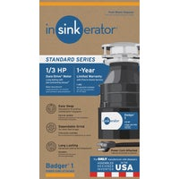 76039A Insinkerator 1/3 HP Badger 1 Garbage Disposer w/Power Cord