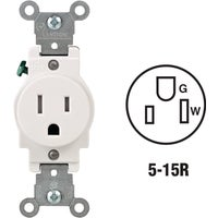 R52-T5015-0WS Leviton Commercial Grade Tamper Resistant Single Outlet outlet single