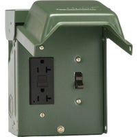 U010S010GRP GE Backyard GFI Outlet With Switch gfci outlet