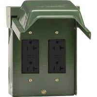 U012010GRP GE Backyard GFCI Outlet With 2 Receptacles GE Backyard GFCI Outlet With 2 Receptacles