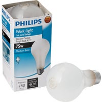 415273 Philips Silicone Coated A21 Incandescent Rough Service Light Bulb