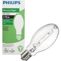140905 Philips ED28 Mogul Screw Mercury Vapor High-Intensity Light Bulb Philips ED28 Mogul Screw Mercury Vapor High-Intensity Light Bulb