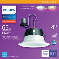552240 Philips Warm Glow Retrofit LED Recessed Light Kit
