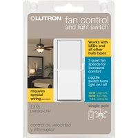 DVFSQ-LFH-WH Lutron Diva Light & Fan Control Switch