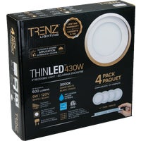 TL4W-30-WH-4 Liteline Trenz ThinLED 3000K Recessed Light Kit