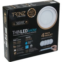 TL4W-40-WH-4 Liteline Trenz ThinLED 4000K Recessed Light Kit