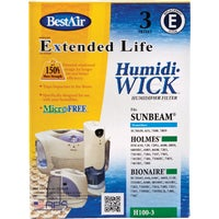 H100-PDQ-3 BestAir Extended Life Humidi-Wick Humidifier Wick Filter H100, Replacement Humidifier Wick Filter