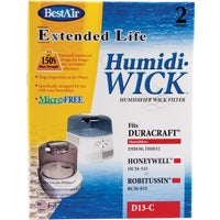 D13 BestAir Extended Life Humidi-Wick Humidifier Wick Filter D13, BestAir Humidifier Filter 2-Pack