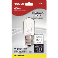 S3917 Satco T8 Intermediate Base Incandescent Appliance Light Bulb 71604, 71604 GE T8 Microwave Oven Light Bulb