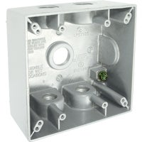 5337-1 Bell Aluminum Weatherproof Outdoor Outlet Box