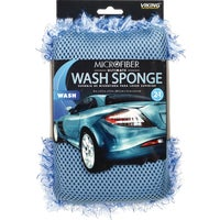 855200 Viking 2N1 Ultimate Car Wash Sponge 40107, Chenille Car Wash Pad