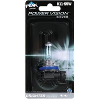H11-55WPVS-BPP PEAK Power Vision Silver Halogen Automotive Bulb