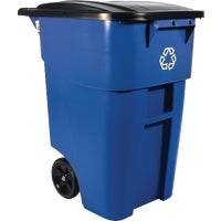 FG9W2773BLUE Rubbermaid 50 Gal. Roll Out Recycling Trash Can FG9W2773BLUE, Rubbermaid 50 Gal. Roll Out Recycling Trash Can