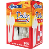 41426-10065 Diamond Heavy-Duty Plastic Cutlery Set 41426-10065, Heavy-Duty Plastic Cutlery Set
