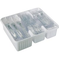 4142600501 Diamond Clear Plastic Cutlery Set 41426-00501, Clear Plastic Cutlery Set