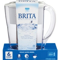 35250 Brita Space Saver Water Filter Pitcher 35250, Brita Space Saver Water Filter Pitcher