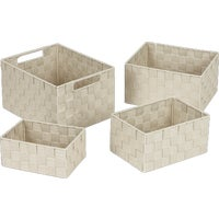 748113-BE Home Impressions 4-Piece Woven Storage Basket Set home impressions