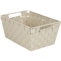 748106-BE Home Impressions Woven Storage Basket With Handles basket storage