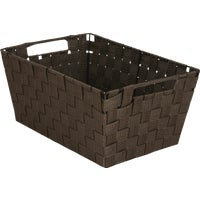 748106-BR Home Impressions Woven Storage Basket With Handles basket storage
