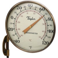 481BZN Taylor Heritage Aluminum Dial Indoor Outdoor Thermometer Taylor Heritage Metal Dial Indoor Outdoor Thermometer