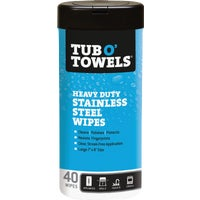 TW40-SS Tub O Towels Stainless Steel Polishing Wipes