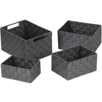 748113-GR Home Impressions 4-Piece Woven Storage Basket Set home impressions