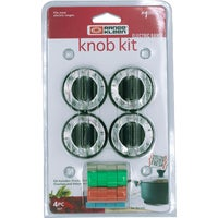 8114 Range Kleen Replacement Electric Range Knob Kit 8114, Replacement Electric Range Knob Kit