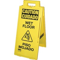 24106-90 Impact Wet Floor Sign 24106-90, English And Spanish Wet Floor Sign