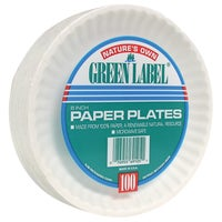 PP6GRAWH AJM Natures Own Green Label Paper Plates paper plates