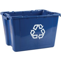 FG571473BLUE Rubbermaid Commercial Blue Recycling Box box recycle