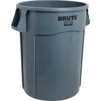 FG264360GRAY Rubbermaid Commercial Brute Plastic Trash Can FG264360GRAY, Rubbermaid Commercial Brutes 44 Gallon Plastic Commercial Trash Can