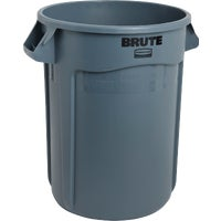 FG263200GRAY Rubbermaid Commercial Brute Plastic Trash Can FG263200GRAY, Rubbermaid Commercial Brute 32 Gallon Plastic Commercial Trash Can