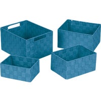 748113-BL Home Impressions 4-Piece Woven Storage Basket Set