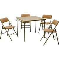 14-551-WHD COSCO 5-Piece Table and Chair Set 14-551-WHD, 5-Piece Table and Chair Set