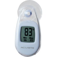 00315A1 Acu-Rite Suction-Cup Window Indoor & Outdoor Thermometer thermometer window